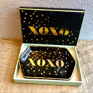 Rosanna Collectible XOXO Gold Jewelry Tray NWT